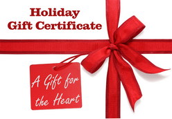 Gift Certificates, gift, holiday gift